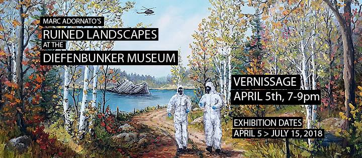 Marc Adornato's Ruined Landscapes- Opening April 5, 2018 at the Bunker!