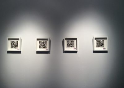 Knitted QR codes